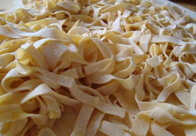 Recette végétarienne: Fettuccinis aux pleurotes enveloppés de bacon végétarien…hummmmm